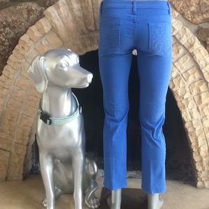 Tory Burch Cropped Jean Blue